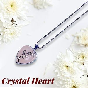 💖Pink Crystal Heart Necklace💖